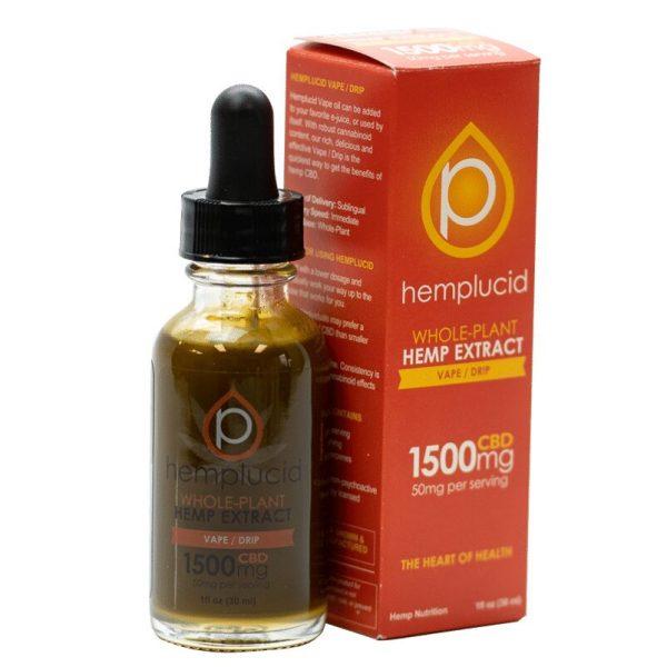 Hemplucid Vape/Drip Hemp Extract with 500mg Cannabinoids