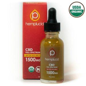 Full Spectrum Hemp Oil Drops from Hemplucid Water Soluble 1500mg