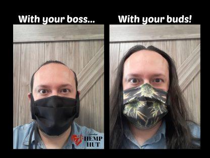 The fun hemp mask from Carolina Hemp Hut - Best Face Mask ever