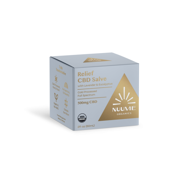 Nuume Relief Salve with CBD 500mg to ease discomfort from pain and aches