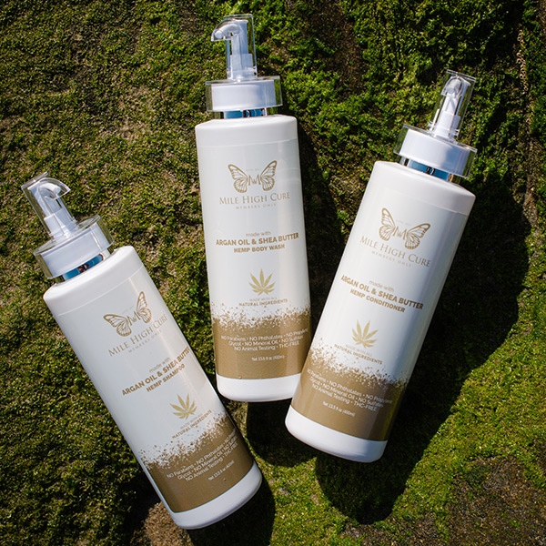 Mile High Cure Hair and Body Care Trio with Hemp