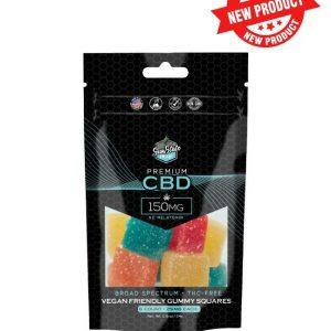 Sun State Hemp Broad Spectrum Vegan Gummies 150mg pack