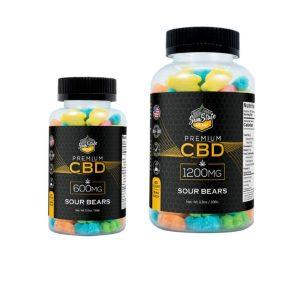CBD Sour Bear Gummies - Edibles with CBD from Sun State Hemp
