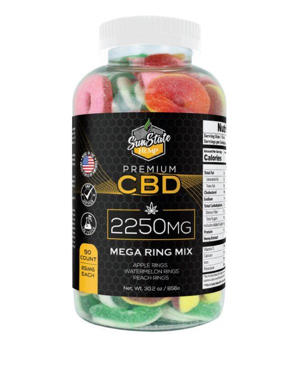 CBD Gummy Mega Ring Mix