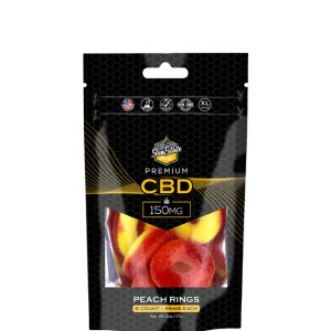 CBD Gummy Peach Rings 150mg