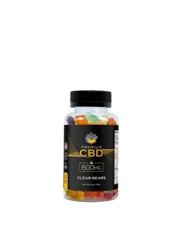CBD Gummy Clear Bears from Sun State Hemp Cannabis Gummies rich in CBD